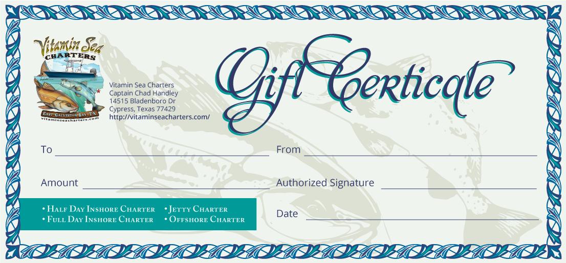 Fishing Gift Certificate